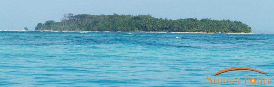 An island close to Sunset Point, Bocas.